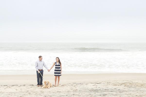 ©Anna Grace Photography | Beach engagement photos with dog, Bethany Beach, DE