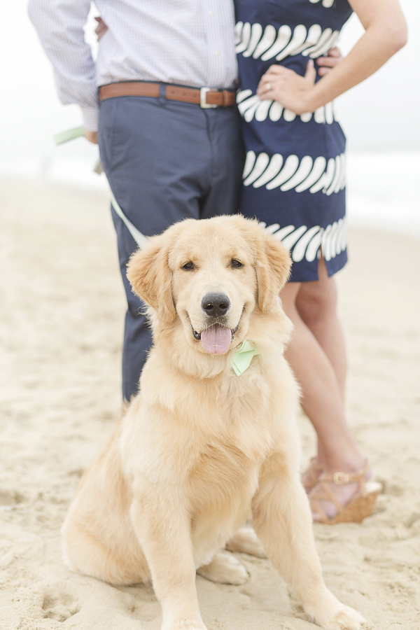 Bethany Beach engagement pictures with dog, ©Anna Grace Photography