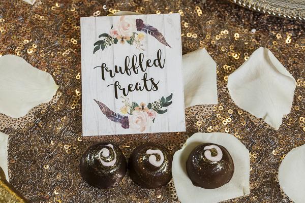 truffled treats, puns