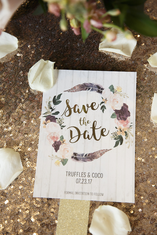 Save the Date for dog wedding