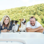 Engaging Tails:  Rossi and Lucy on the Allegheny River