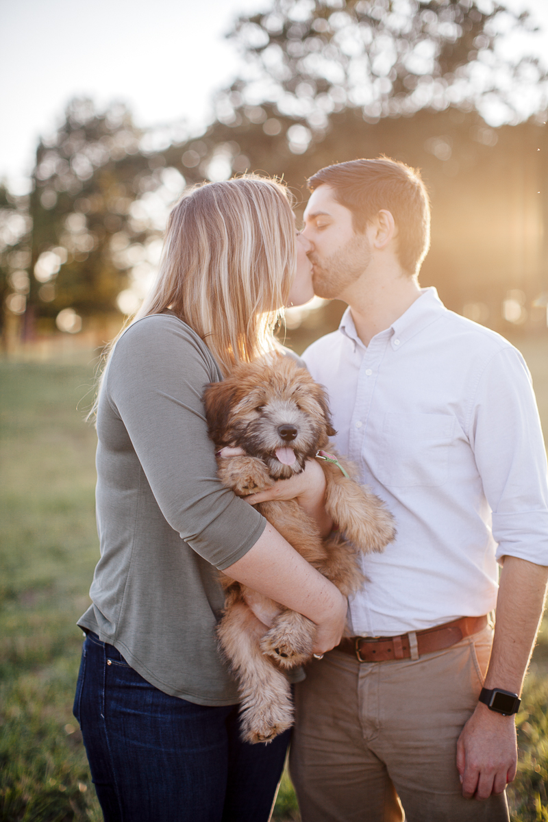 including dogs in engagement photos, ©Laura Memory Photography | Miami and Raleigh engagement photography