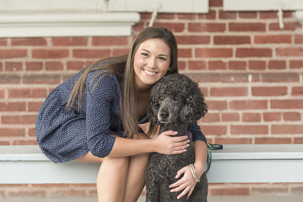 girl and her poodle, lifestyle pet photography