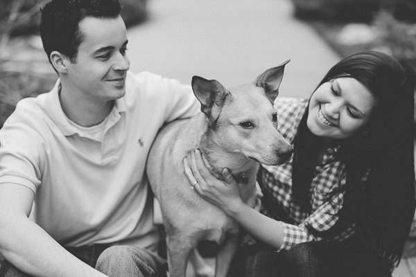 ©Ashley Hamm Photography | Including pets in engagement pictures, shepherd mix, Lincoln Park