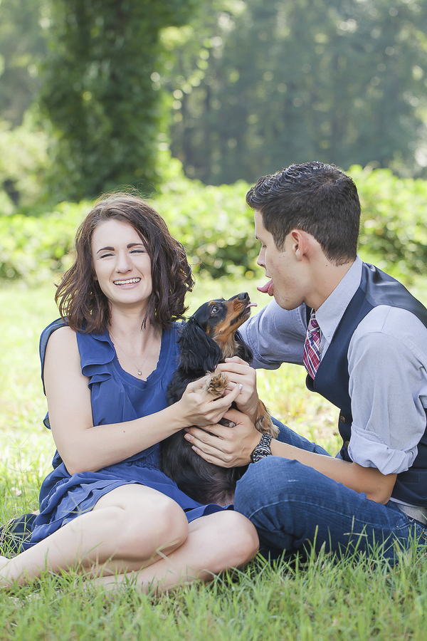goofy engagement pictures with dog, ©Casey Hendrickson Photography, engagement photos with dog