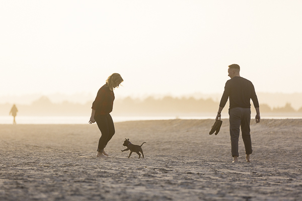 Puppy Love: Engagement Photos at Wrightsville Beach, NC