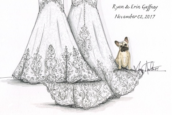 Spotlight :  Megan Hamilton Wedding Illustrations
