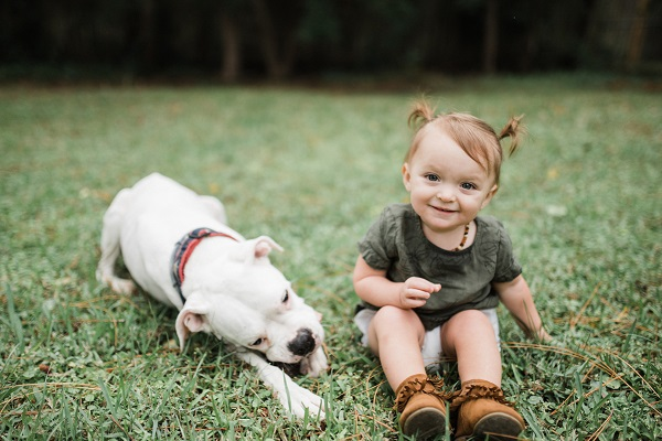 adorable toddler girl and her Boxer BFF, ©Love Mary Beth Photography | Panama City, documentary dog photography