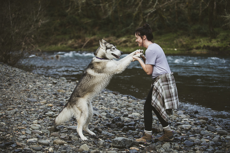 Misha the Malamute and her mom, best friends day, ©Laurie Jean Photography