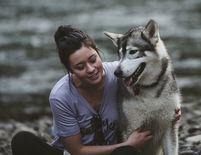 Misha the Malamute, woman's best friend, bond between dog and human, ©Laurie Jean Photography, Tillamook State Forest
