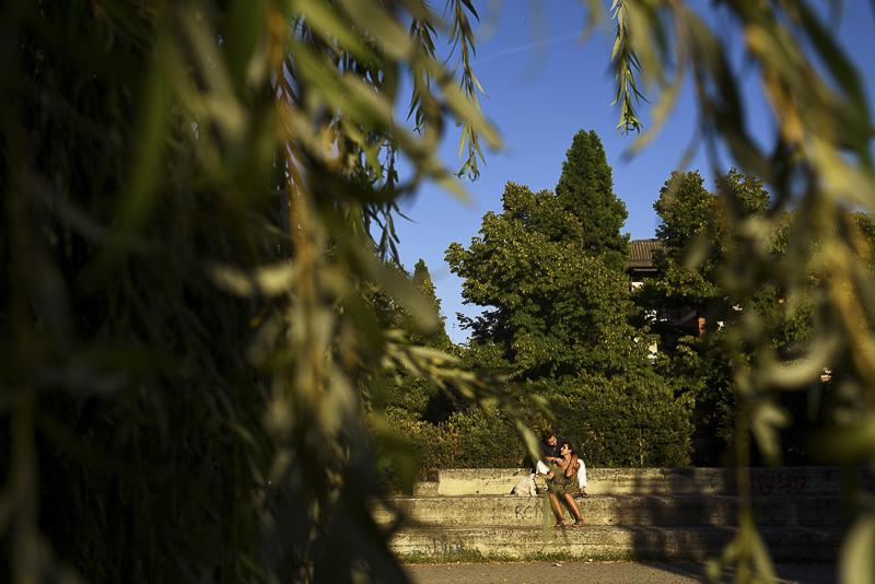 ©Martina Campola Photography   engagement photos with small dog, Alessandria, Italy