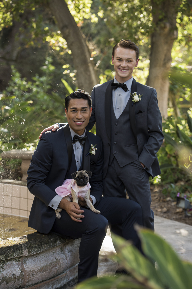 handsome couple and their dog, ©Spotlight Studios | including dogs in wedding photos and anniversary photos
