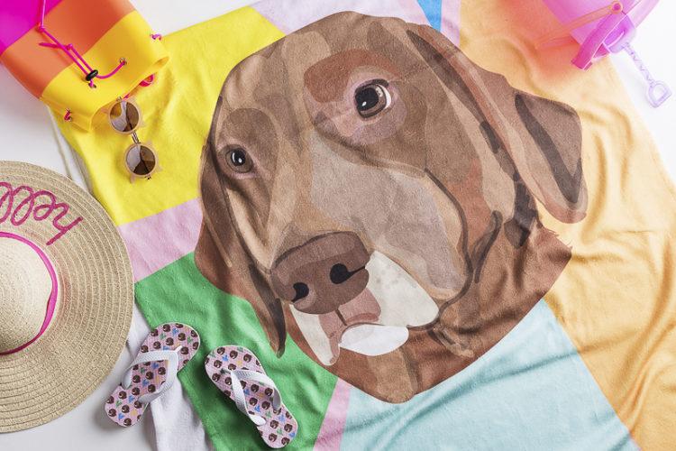 Win A Noble Friends Custom Pet Portrait Beach Towel