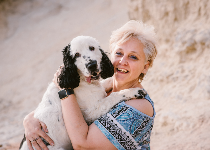 soulmates, woman and her Cocker Spaniel at the beach, ©Bitsa Bernard Photography | Adelaide, lifestyle dog photography