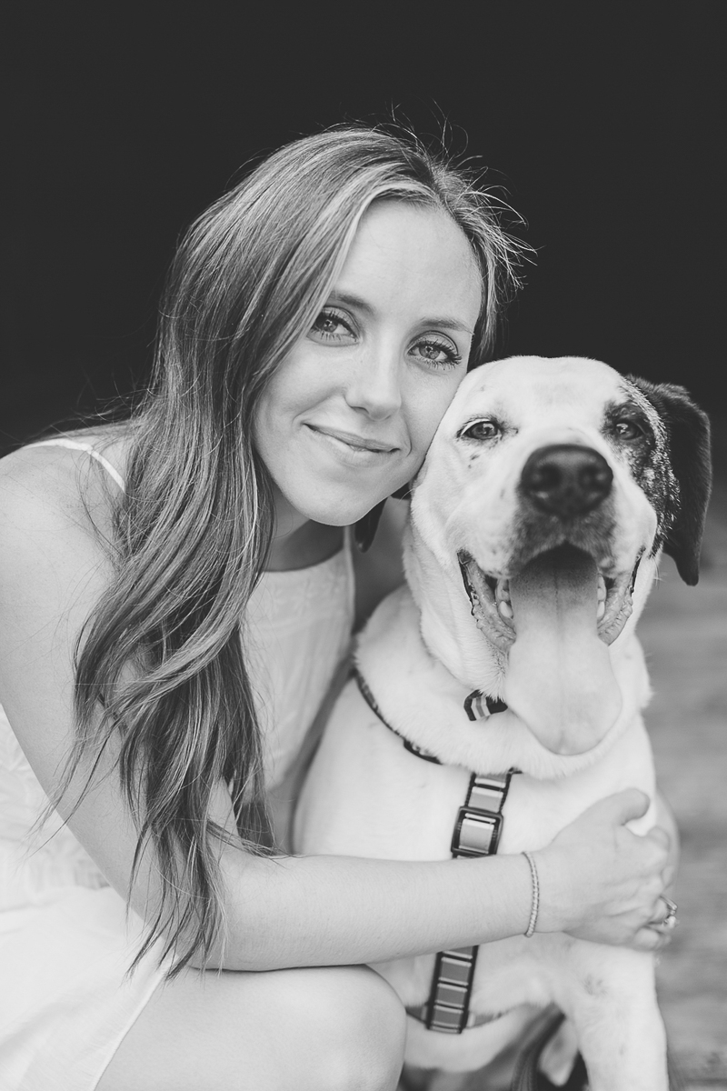 beautiful portrait of woman and mixed breed dog, ©Brandy Angel Photography | lifestyle dog photography