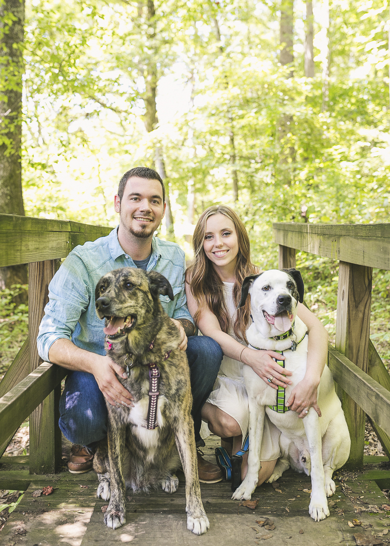 mixed breeds and their humans, ©Brandy Angel Photography | engagement photos with dogs