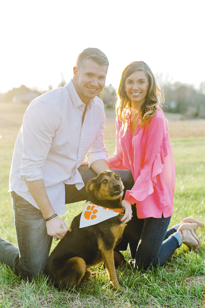 engagement photo with smiling dog | ©Casey Hendrickson Photography | Charlotte, NC
