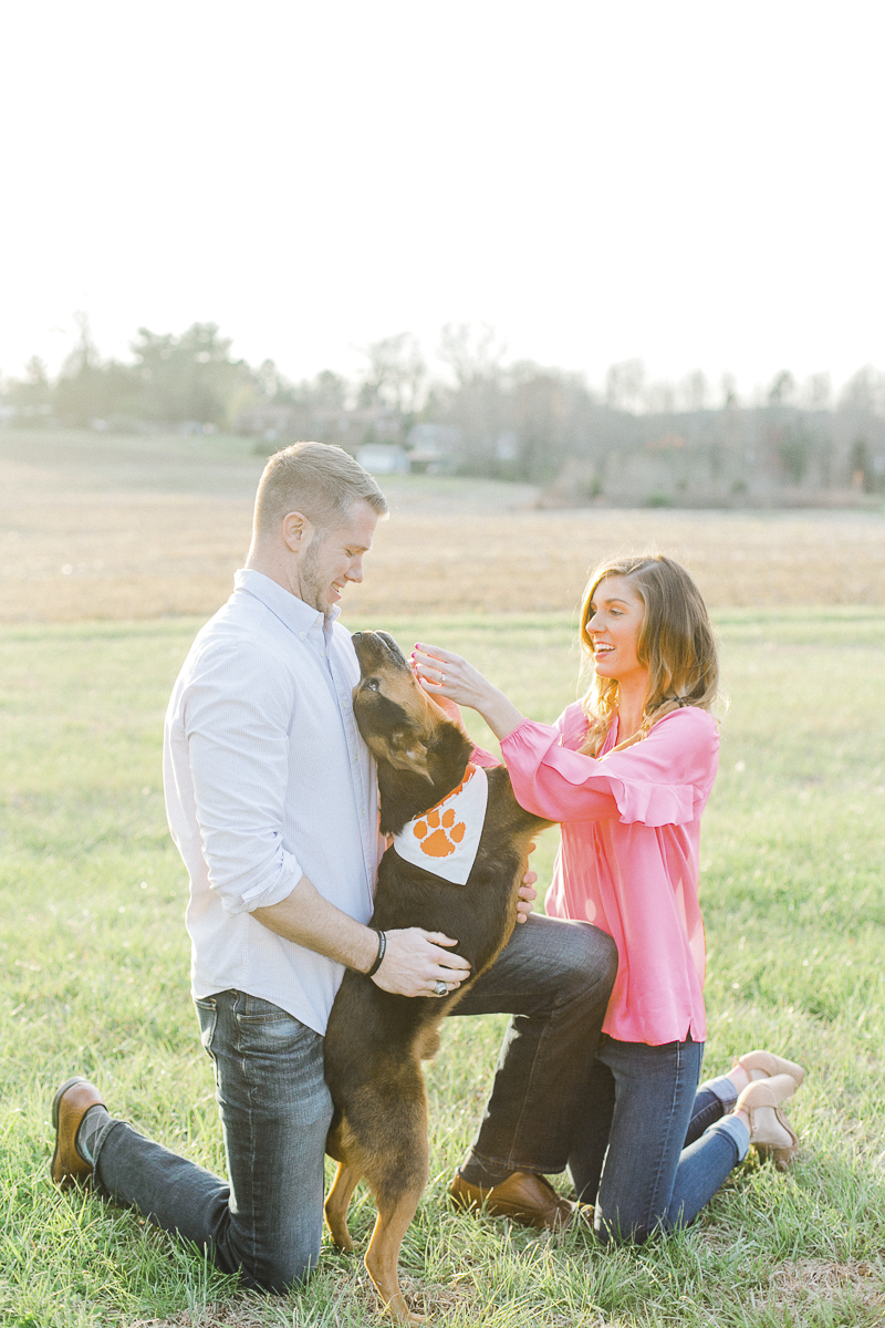 ©Casey Hendrickson Photography | Charlotte, NC Engagement photos with a dog