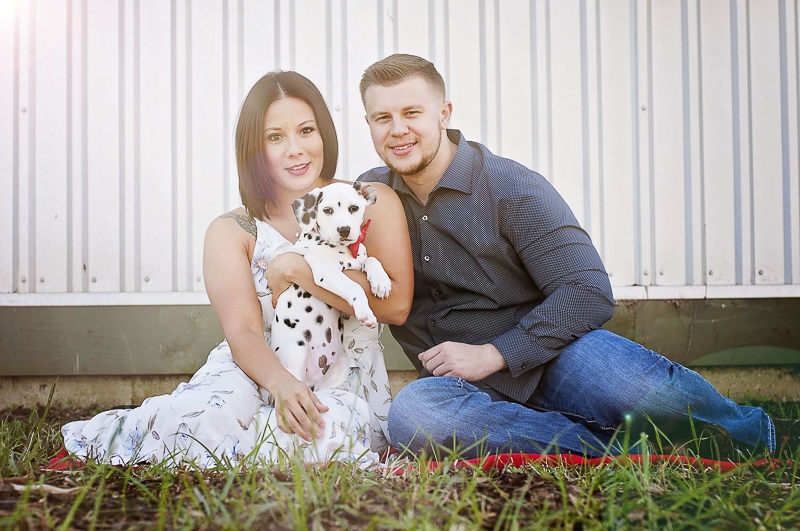 Houston Texas engagement pictures with Dalmatian Puppy, ©Kelly Urban Photography