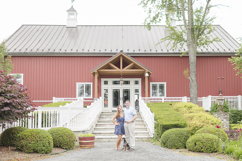 , ©Anna Grace Photography   dog friendly engagement pictures at Sunset Hills Winery