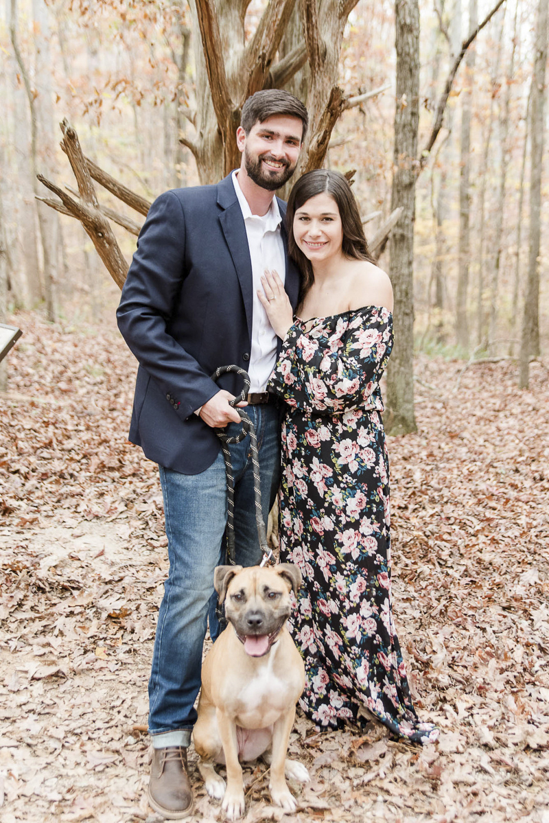 "couple in ""date night outfits"" with their dog, ©Heather K Cook Photography 