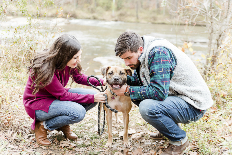 ©Heather K Cook Photography   Atlanta dog friendly engagement portraits