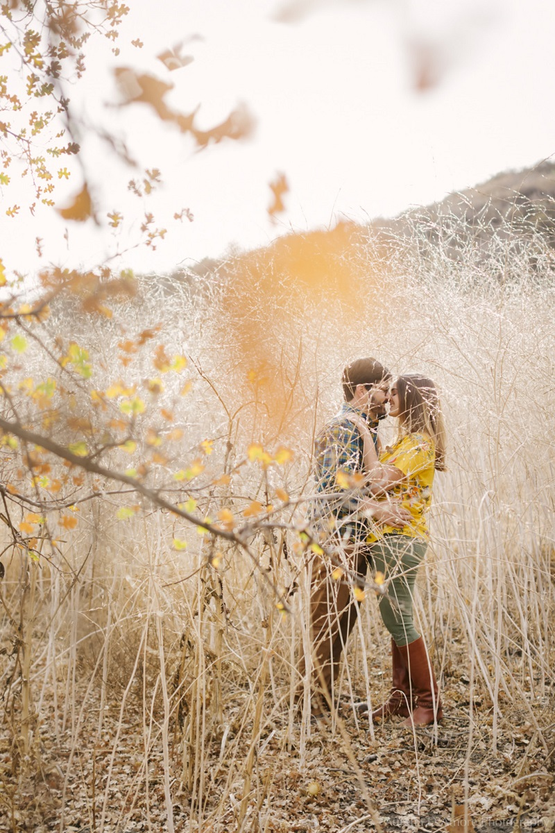 Romantic Fall Engagement Photos in California, ©Aurelia D'Amore Photography