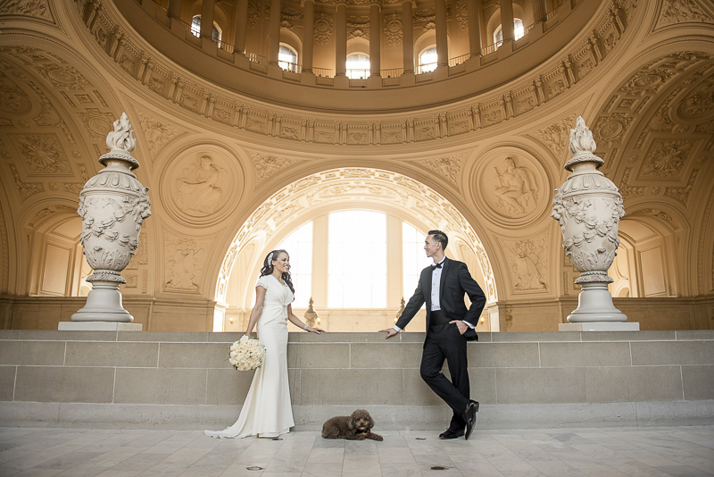 dog-friendly wedding venue, San Francisco City Hall
