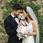 Morkie, bride, groom pet-friendly wedding ©Mioara Dragan Photography