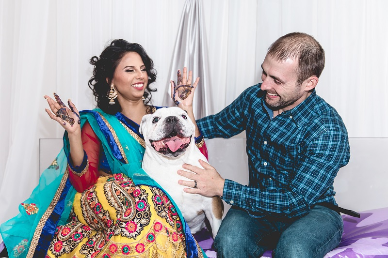 ©Mohaimen Kazi Photography | dog friendly Henna Party, English Bulldog