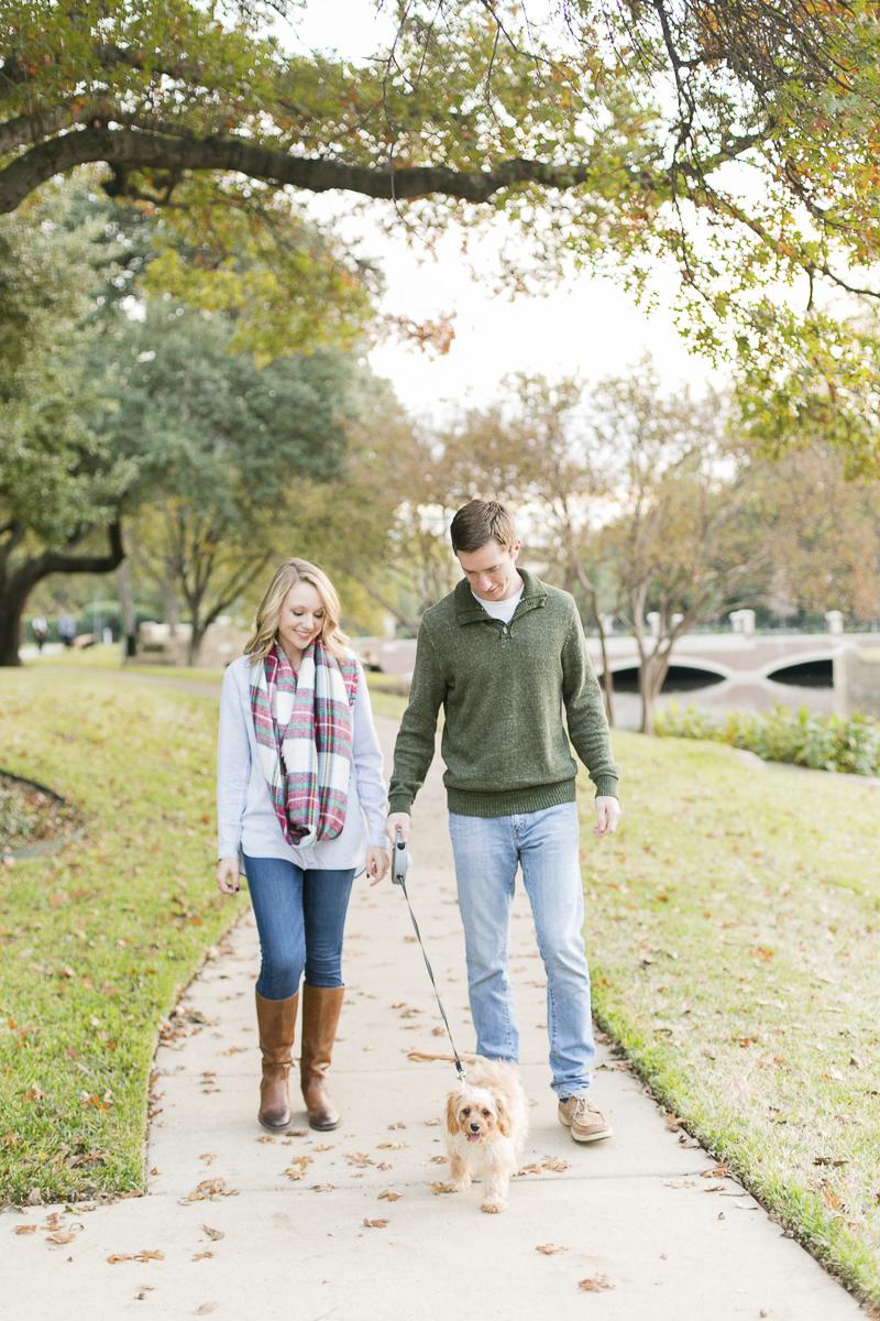 couple walking their dog, lifestyle family photos, ©Abbie Mae Photography