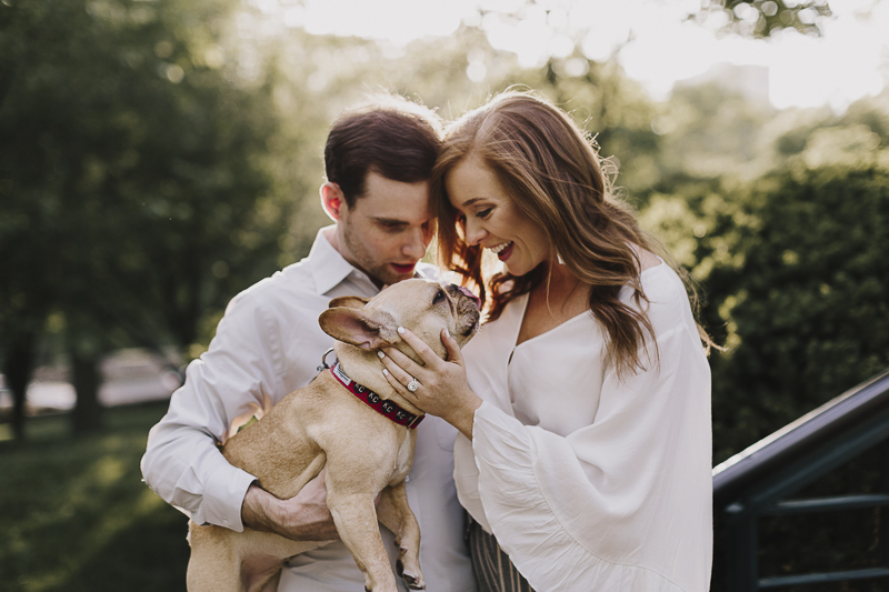 love between dogs and humans, pet friendly engagement photos, Alyssa Barletter Photography