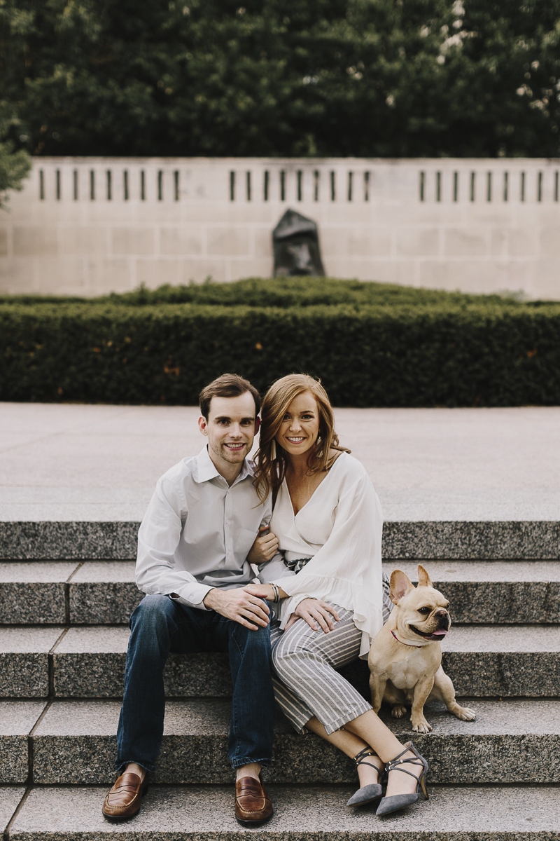 ©Alyssa Barletter Photography | engagement photos with a Frenchie