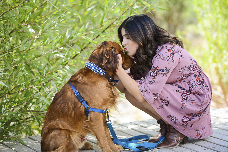 woman kissing dog on forehead, love between people and dogs, ©CR Photography | CA lifestyle pet photography