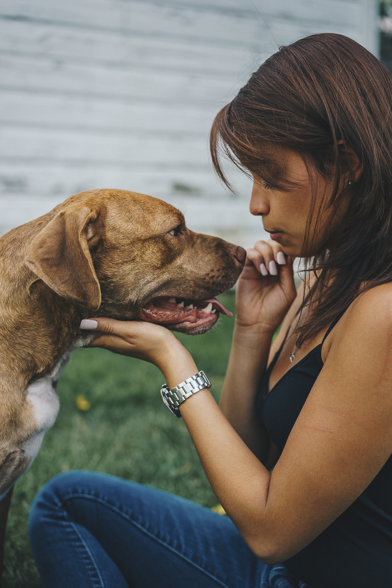 love between dogs and humans, lifestyle dog photography, Pit bull advocacy | ©Heck Designs and Photography