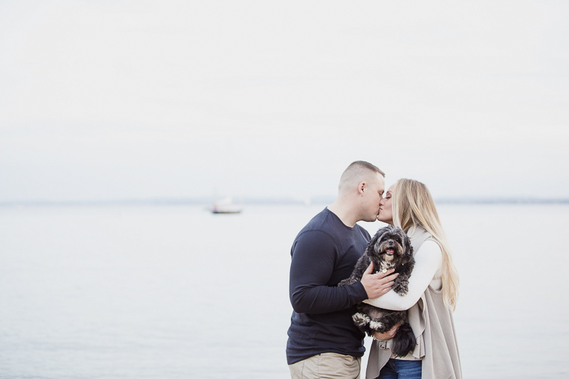 dog-friendly, beach engagement photo session, | ©Meely Photography, Amboy Perth, NJ