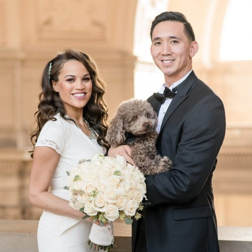 Best (Wedding) Dog: Tyler the Toy Poodle at SF City Hall