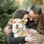 Dog Friendly Winter Engagement Photos by Julia Jane Studios