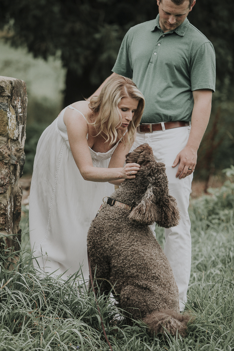 family photos with a dog, ©Kelli Wilke Photography