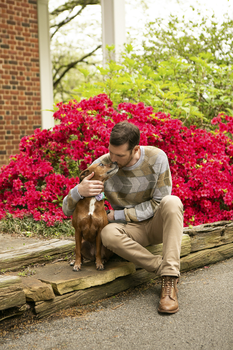 man kissing dog, man's best friend, ©Mandy Whitley Photography | Nashville lifestyle photography