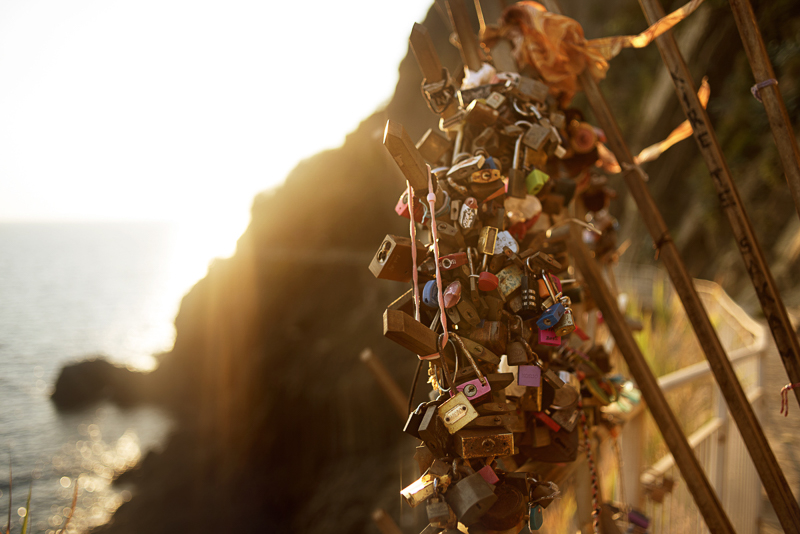locks of love, Cinque Terre, Italy
