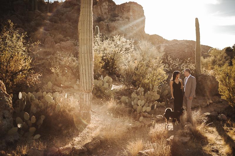 black Shiba Inu, ©Mioara Dragan Photography, Arizona desert engagement photos with a dog