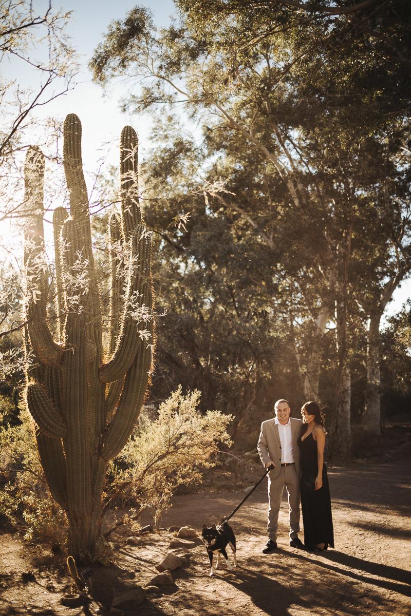 AZ desert engagement photos | ©Mioara Dragan Photography Scottsdale, dog-friendly engagement pictures