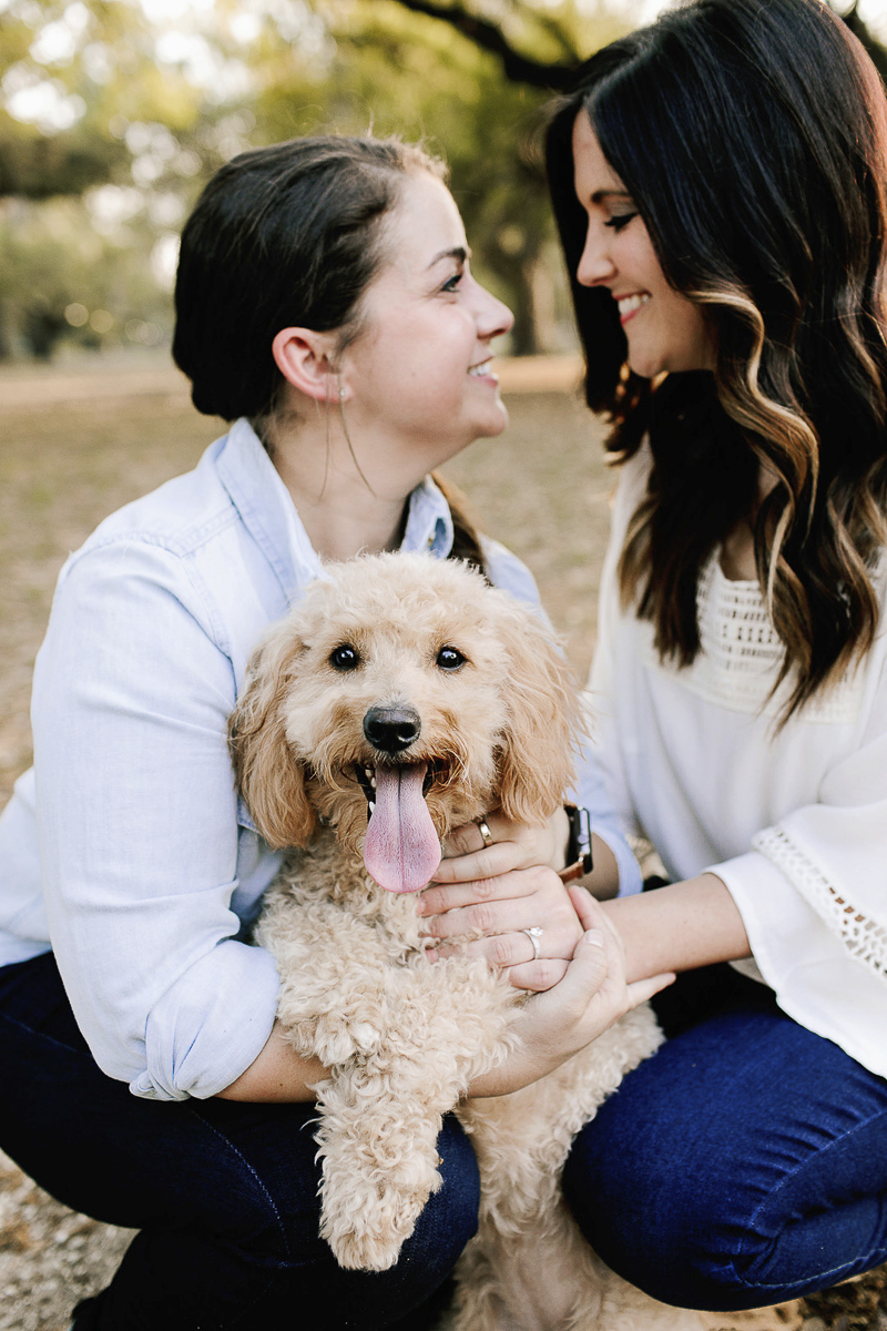 ©Theresa Elizabeth Photography | dog-friendly engagement session, New Orleans