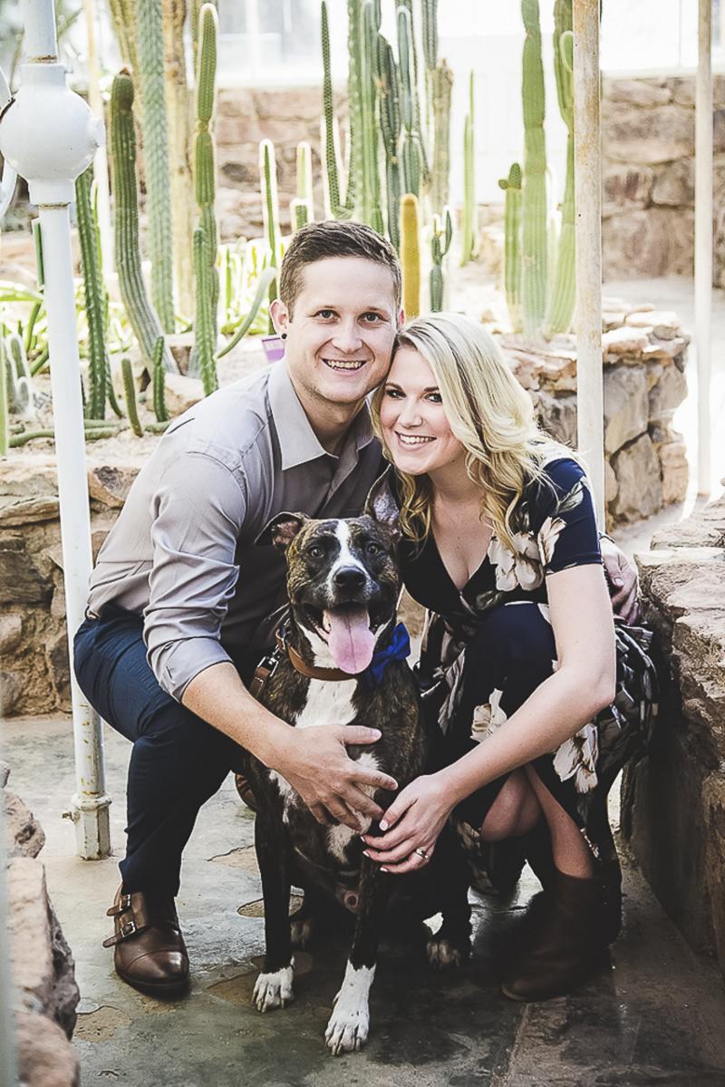 Poppyseed Photography | engagement photo shoot with a dog, botanical garden