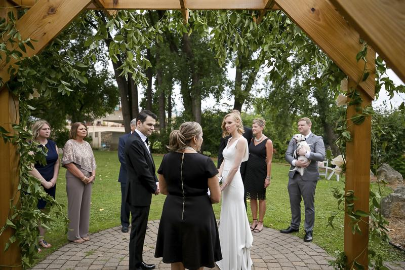 small dog-friendly wedding, ©Jeannine Marie Photography | St Paul wedding photography, Minnesota Boat Club