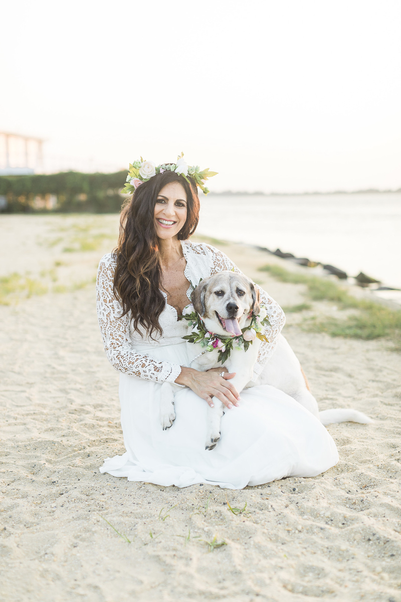 """©Kelly Sea Images photoshoot celebrating human-dog connection, """"mommy and puppy"""" photography session"""