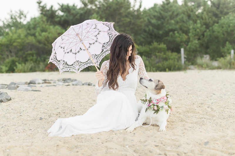 """mommy and me session"" lifestyle dog and human portraits, woman and her dog on the beach ©Kelly Sea Images 