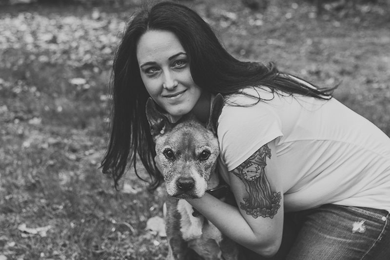 ©Nicole Maddalone Photography | senior dog and woman, on location Saratoga Springs family portraits