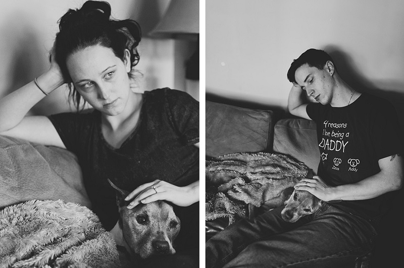 End of life pet session, couple and their dog | ©Nicole Maddalone Photography | dog and family photography